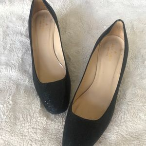 Kate Spade Dolores Black Sparkle Heels